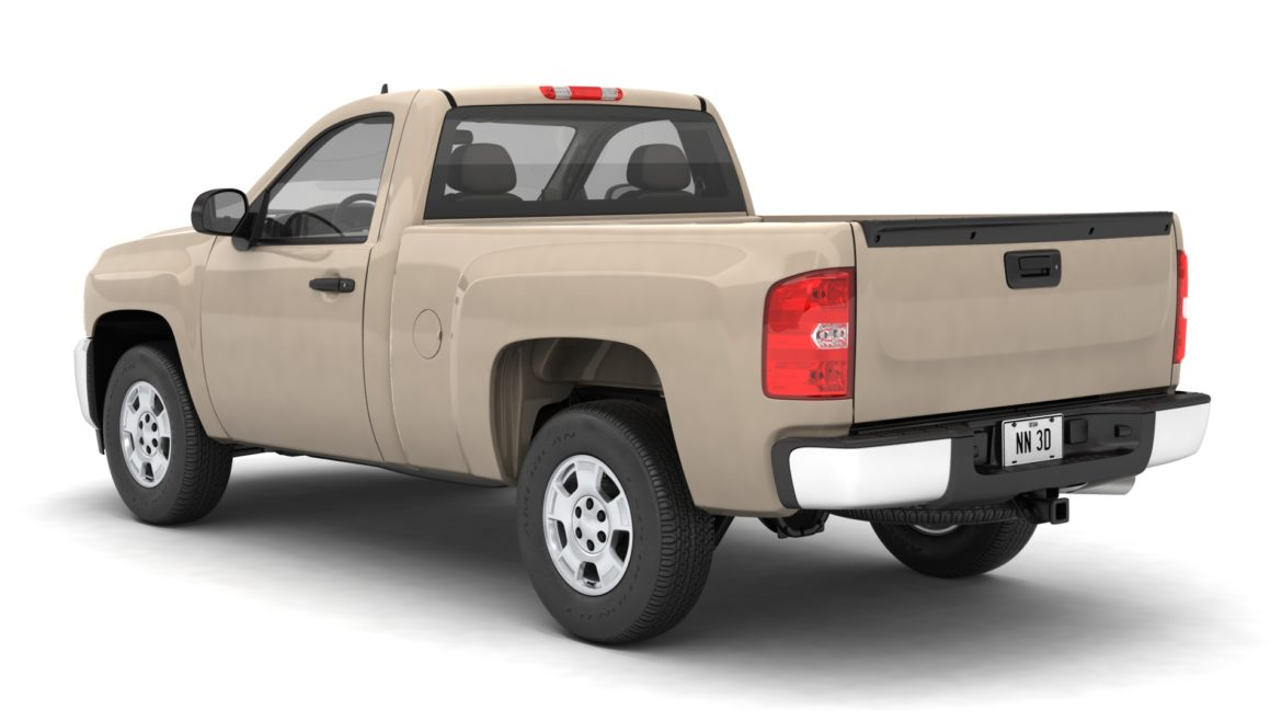 generic pickup truck 14 3d model 3ds max fbx blend obj 320757