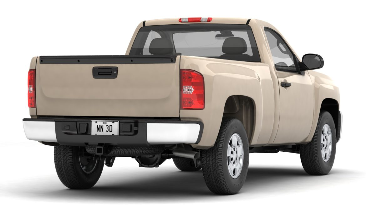 generic pickup truck 14 3d model 3ds max fbx blend obj 320759