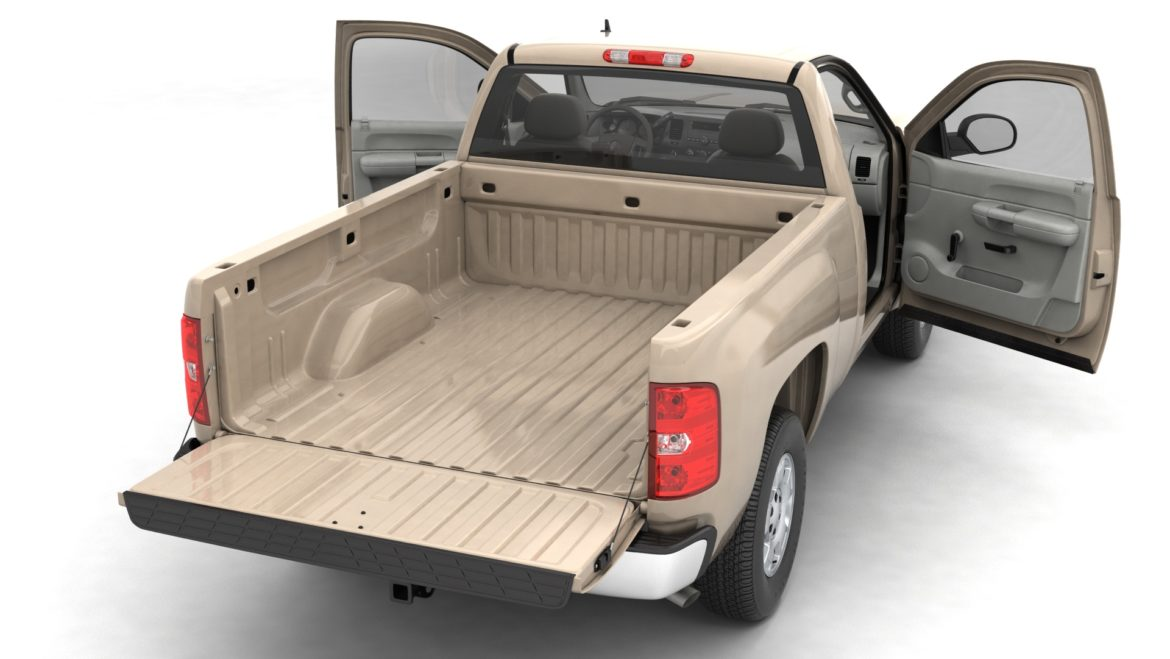 generic pickup truck 14 3d model 3ds max fbx blend obj 320761