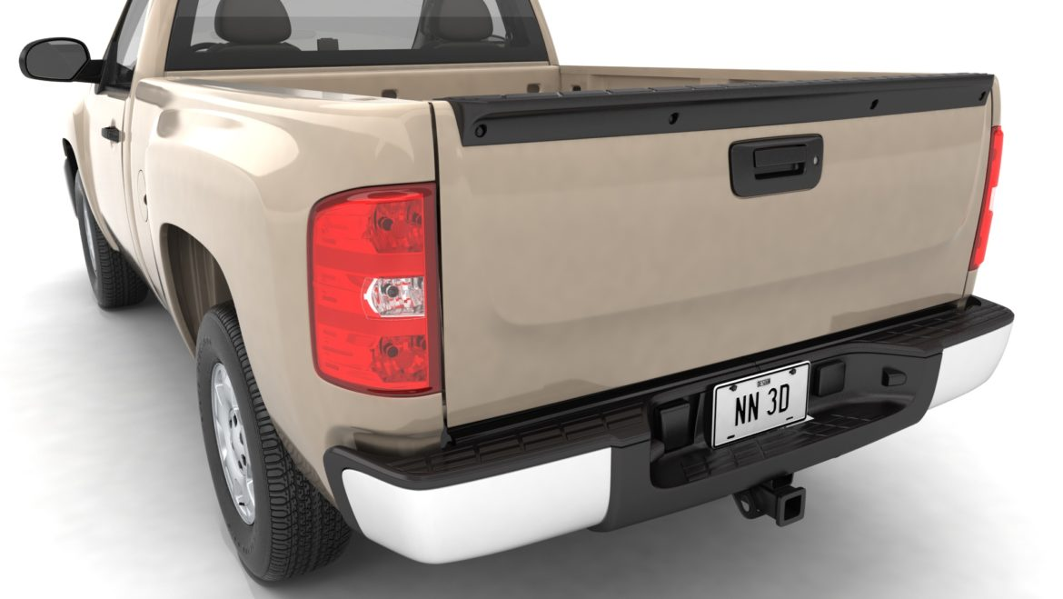 generic pickup truck 14 3d model 3ds max fbx blend obj 320763