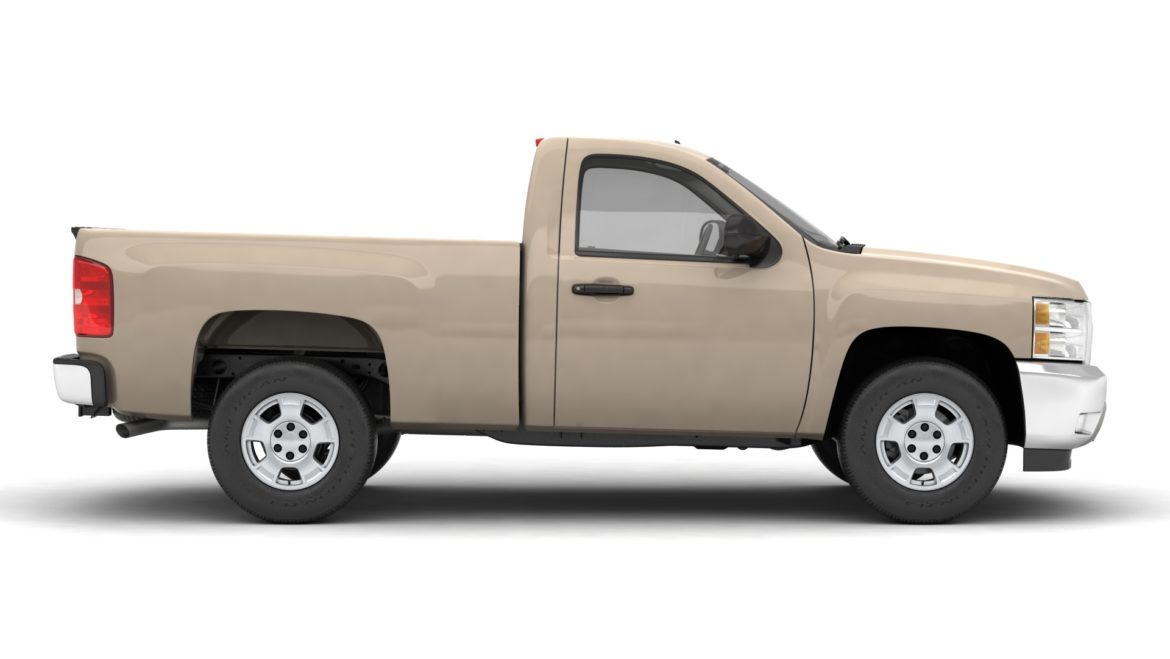 generic pickup truck 14 3d model 3ds max fbx blend obj 320770