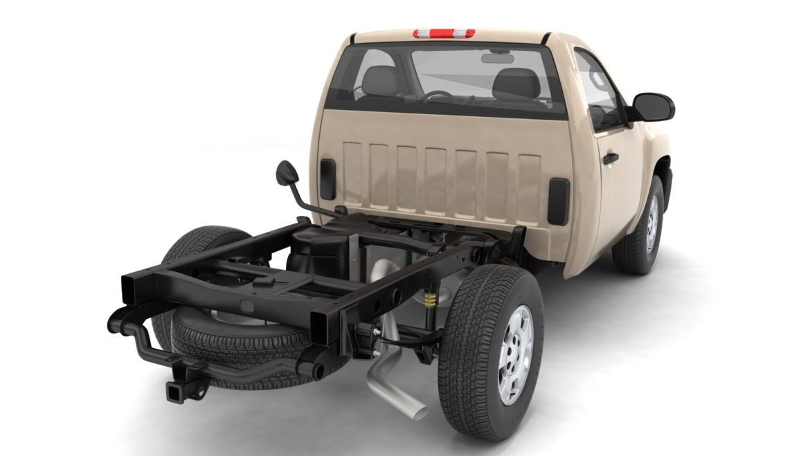 generic pickup truck 14 3d model 3ds max fbx blend obj 320774