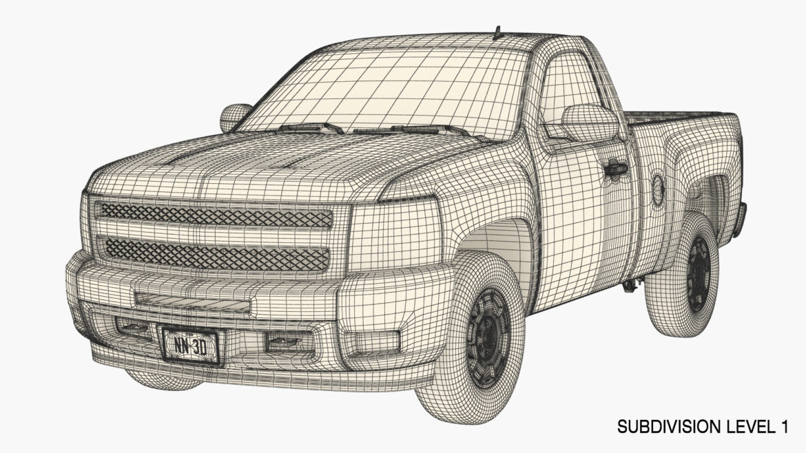 generic pickup truck 14 3d model 3ds max fbx blend obj 320779