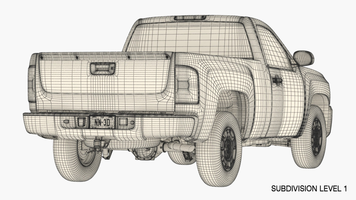 generic pickup truck 14 3d model 3ds max fbx blend obj 320781