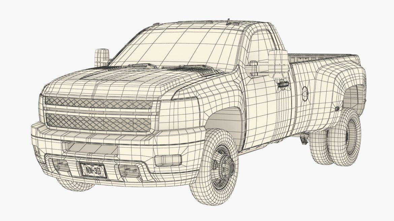 generic dually pickup truck 16 3d model 3ds max fbx blend obj 320819