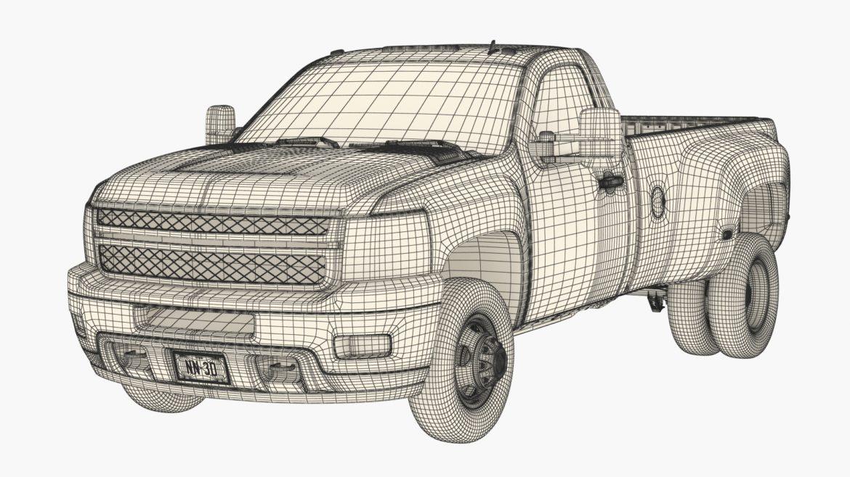 generic dually pickup truck 16 3d model 3ds max fbx blend obj 320820