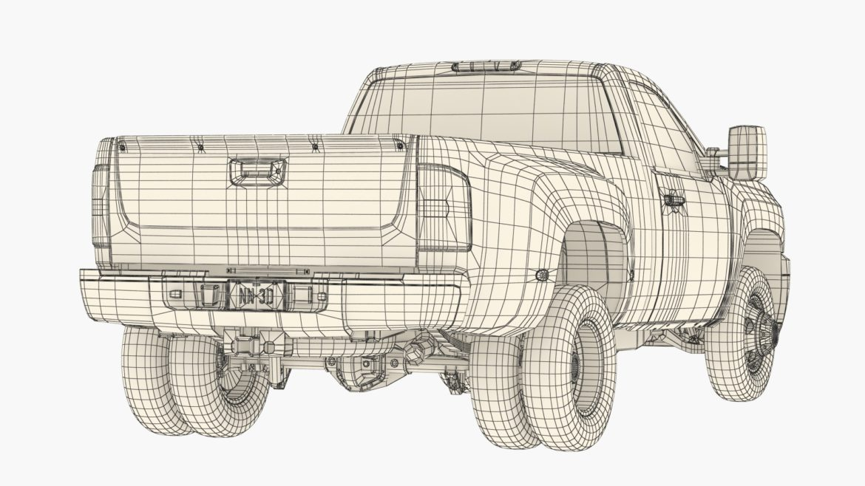 generic dually pickup truck 16 3d model 3ds max fbx blend obj 320821