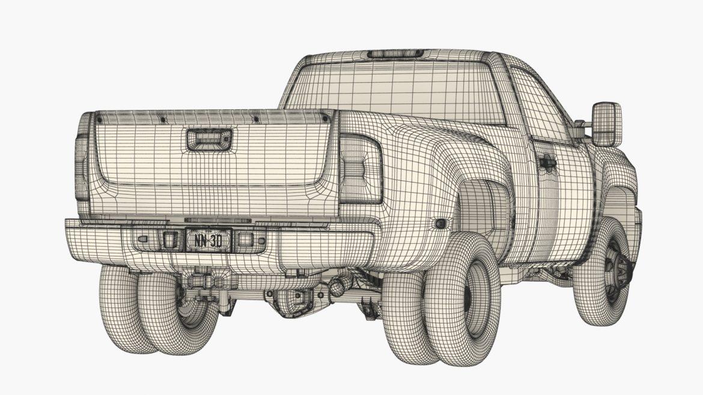 generic dually pickup truck 16 3d model 3ds max fbx blend obj 320822