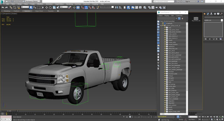 generic dually pickup truck 16 3d model 3ds max fbx blend obj 320823