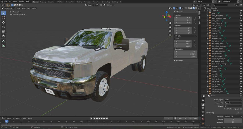 generic dually pickup truck 16 3d model 3ds max fbx blend obj 320824