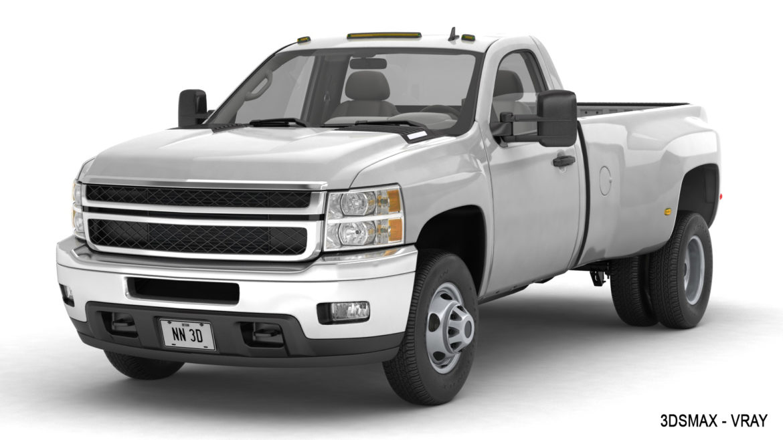 generic dually pickup truck 16 3d model 3ds max fbx blend obj 320826