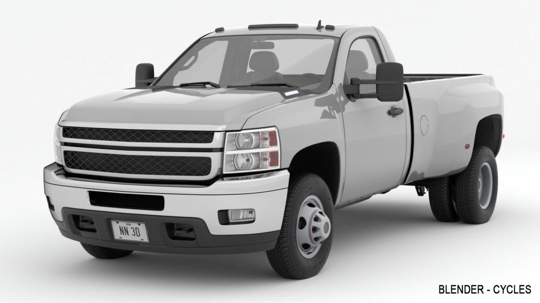 generic dually pickup truck 16 3d model 3ds max fbx blend obj 320827