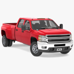 generic dually pickup truck 18 3d model 3ds max fbx blend obj 320837