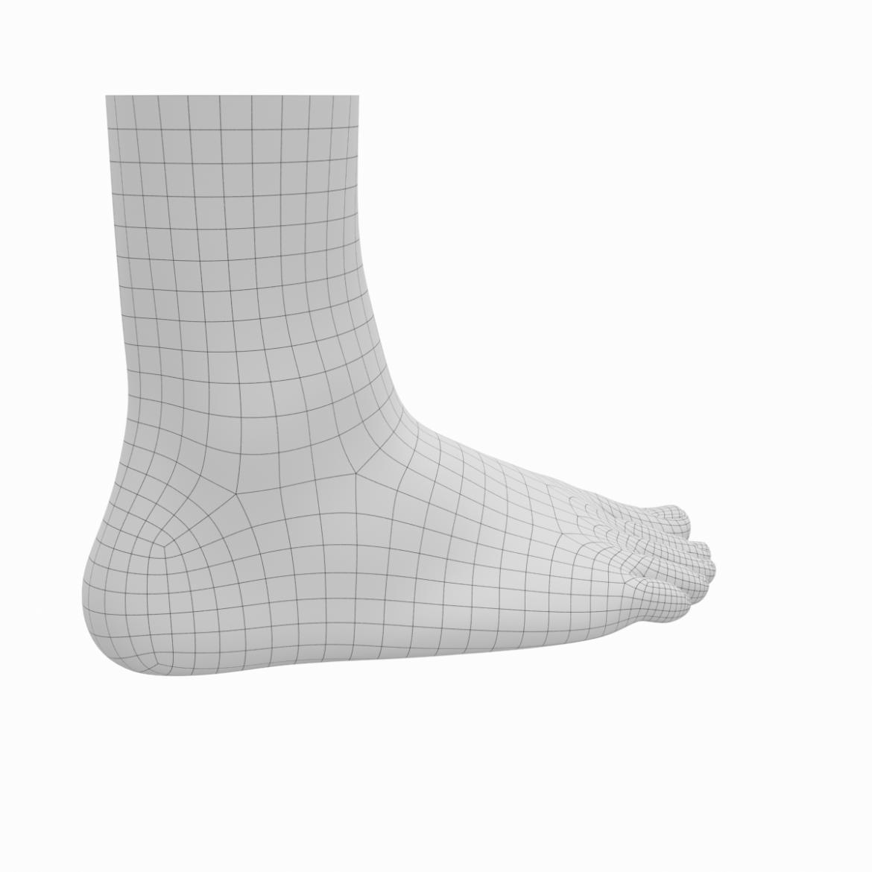 human feet in standing position base mesh 3d model 3ds max dxf dwg fbx blend c4d dae ma mb  obj ztl 320893