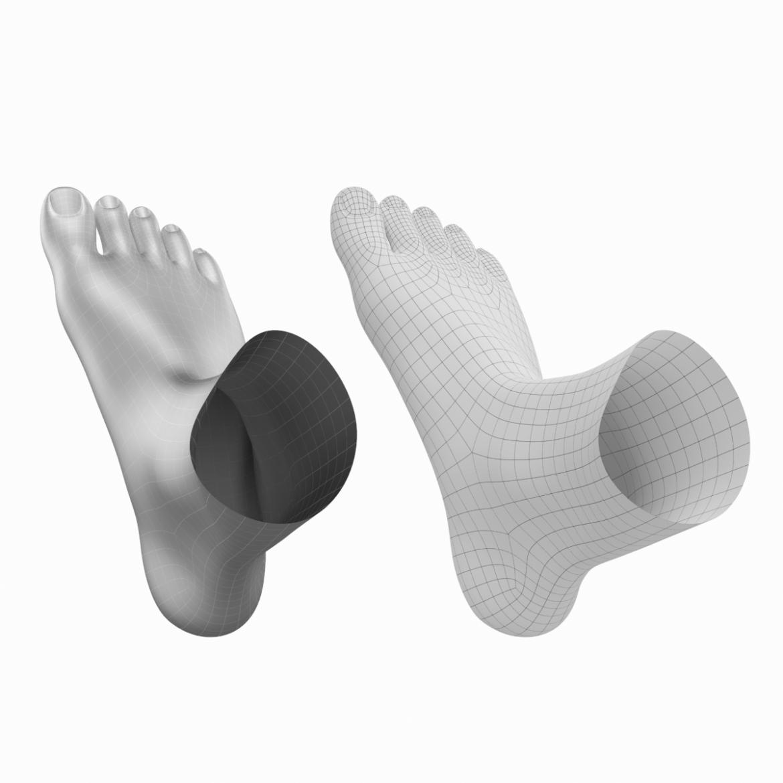 human feet in standing position base mesh 3d model 3ds max dxf dwg fbx blend c4d dae ma mb  obj ztl 320906