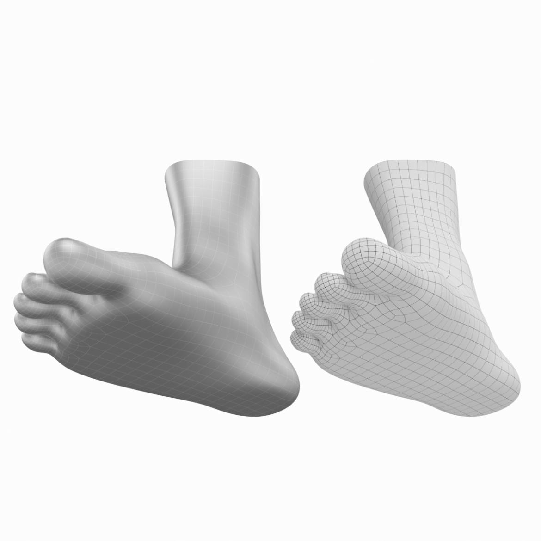 human feet in standing position base mesh 3d model 3ds max dxf dwg fbx blend c4d dae ma mb  obj ztl 320909