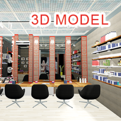 salon ljepote 3d model skp 320925