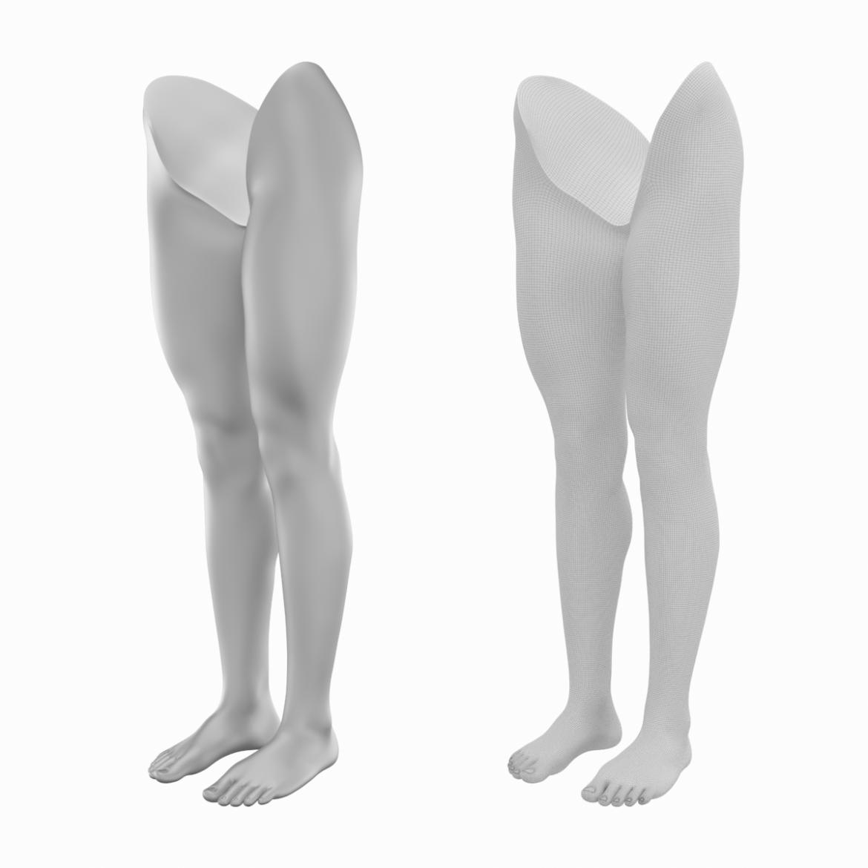 realistic female legs natural proportions 3d model 3ds max fbx blend c4d dae ma mb  obj 320965