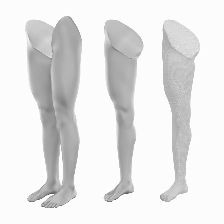 realistic female legs natural proportions 3d model 3ds max fbx blend c4d dae ma mb  obj 320966