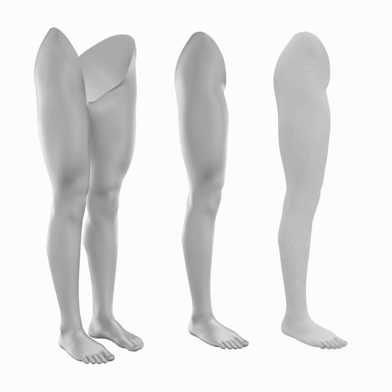 realistic female legs natural proportions 3d model 3ds max fbx blend c4d dae ma mb  obj 320968