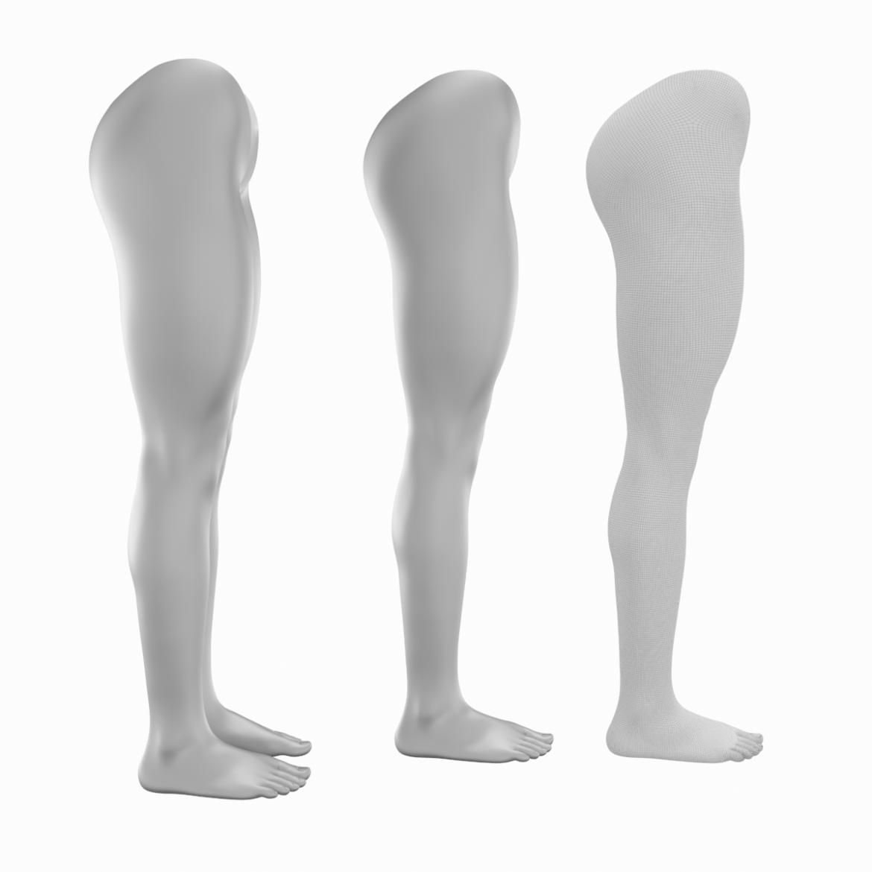 realistic female legs natural proportions 3d model 3ds max fbx blend c4d dae ma mb  obj 320969