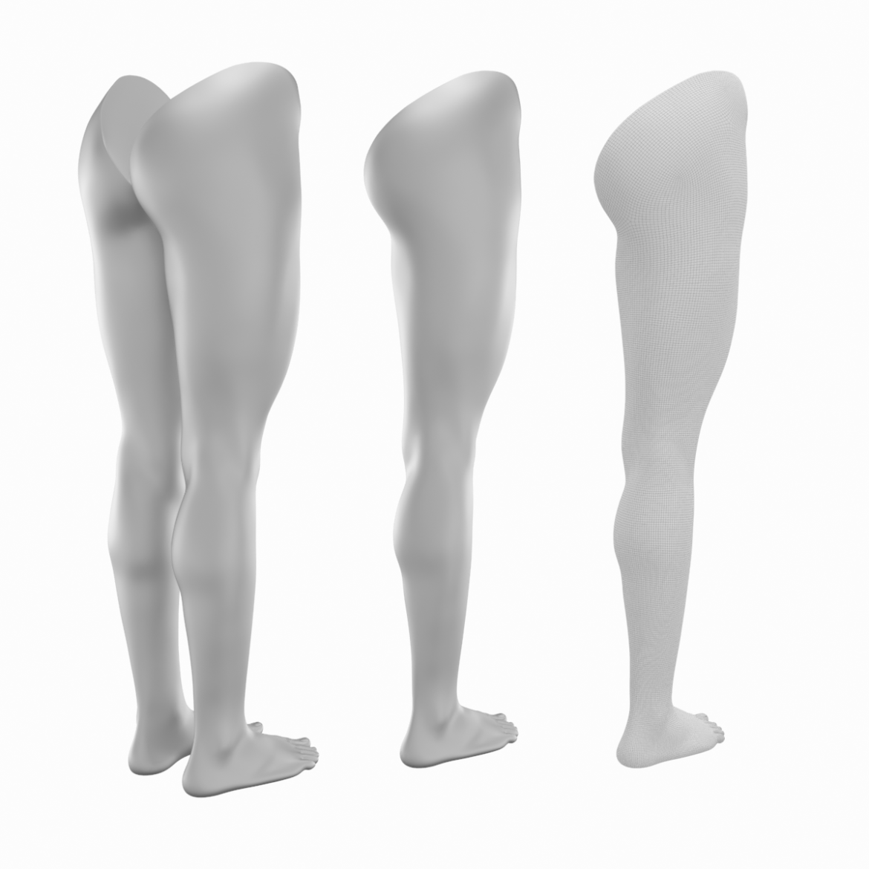 realistic female legs natural proportions 3d model 3ds max fbx blend c4d dae ma mb  obj 320970