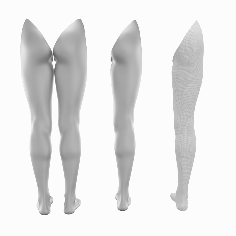 realistic female legs natural proportions 3d model 3ds max fbx blend c4d dae ma mb  obj 320971