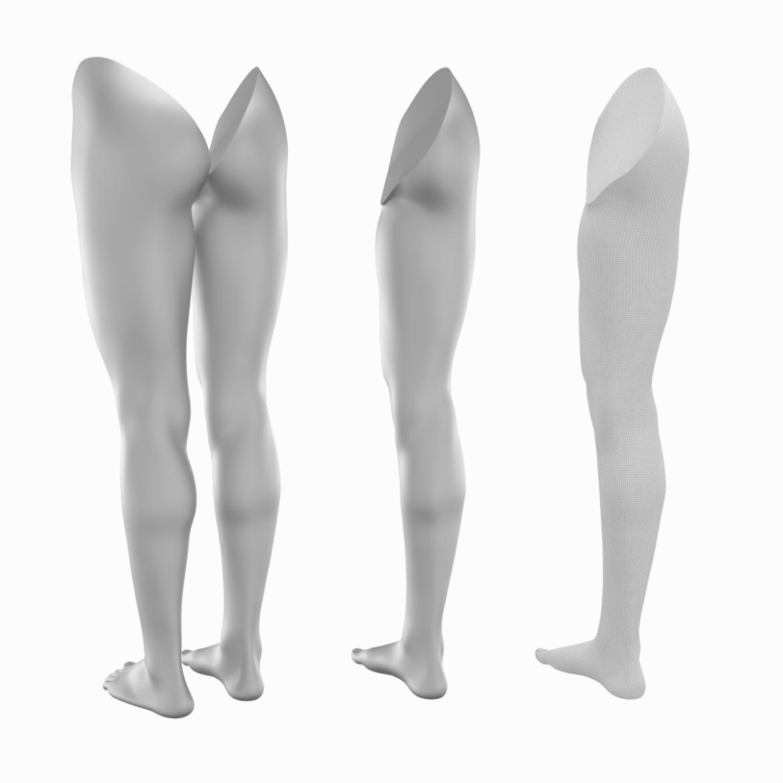 realistic female legs natural proportions 3d model 3ds max fbx blend c4d dae ma mb  obj 320972