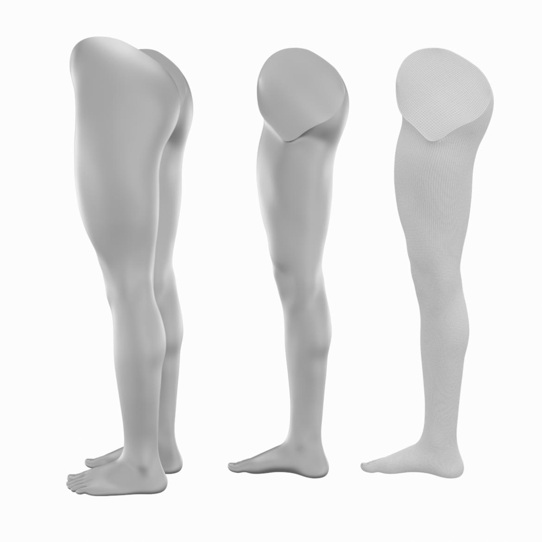 realistic female legs natural proportions 3d model 3ds max fbx blend c4d dae ma mb  obj 320973