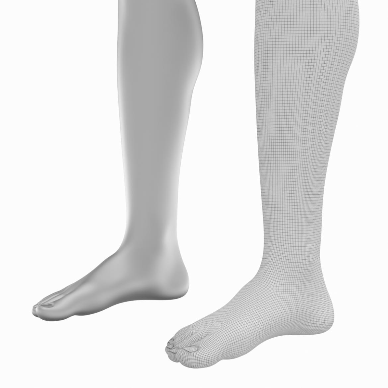 realistic female legs natural proportions 3d model 3ds max fbx blend c4d dae ma mb  obj 320974