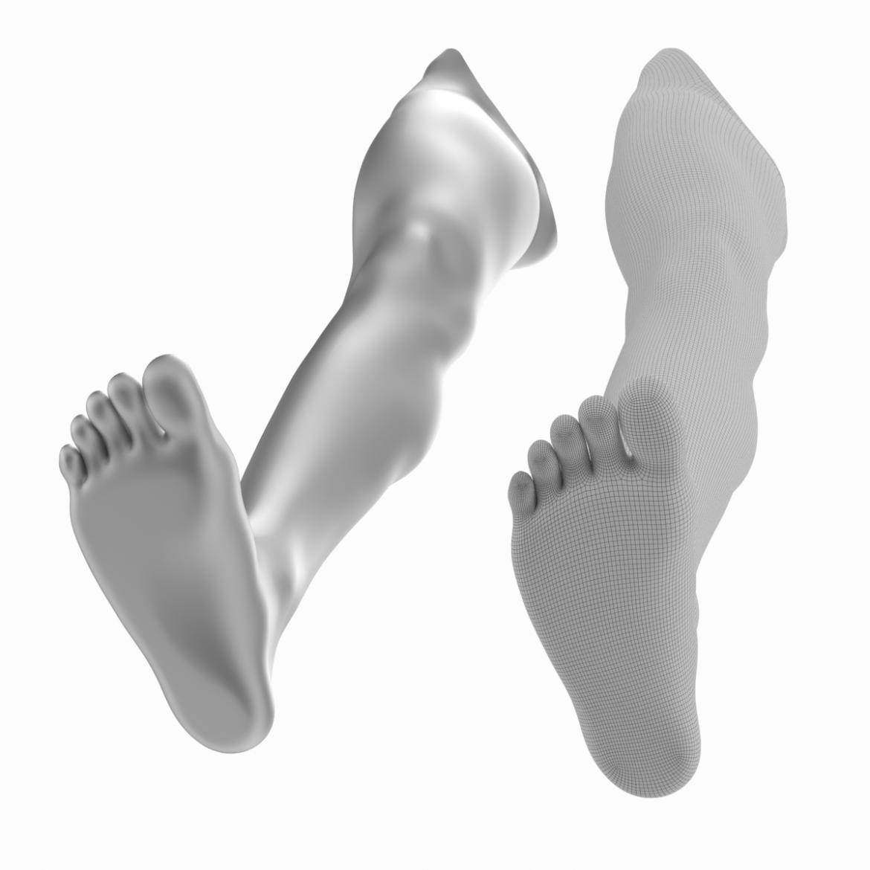 realistic female legs natural proportions 3d model 3ds max fbx blend c4d dae ma mb  obj 320976