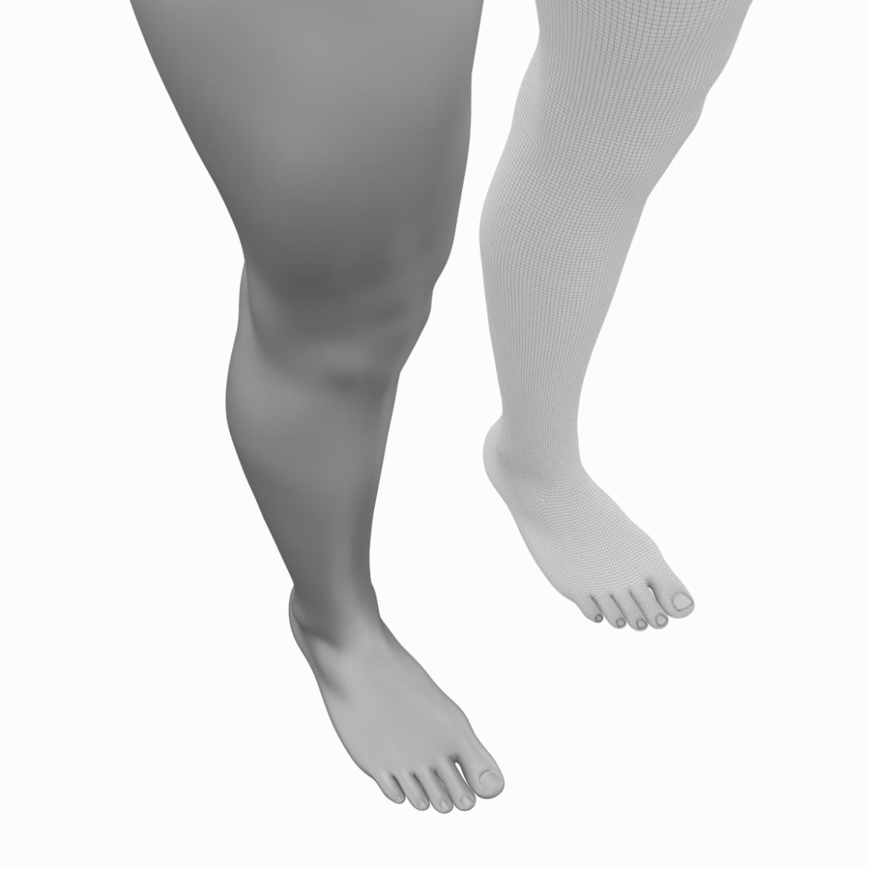 realistic female legs natural proportions 3d model 3ds max fbx blend c4d dae ma mb  obj 320977