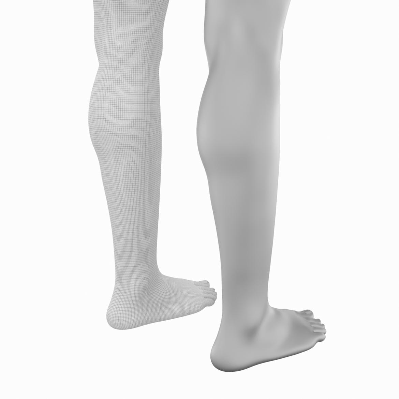 realistic female legs natural proportions 3d model 3ds max fbx blend c4d dae ma mb  obj 320978