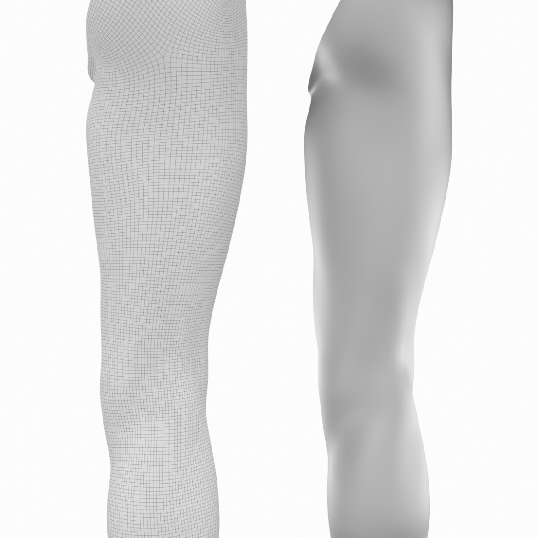 realistic female legs natural proportions 3d model 3ds max fbx blend c4d dae ma mb  obj 320979