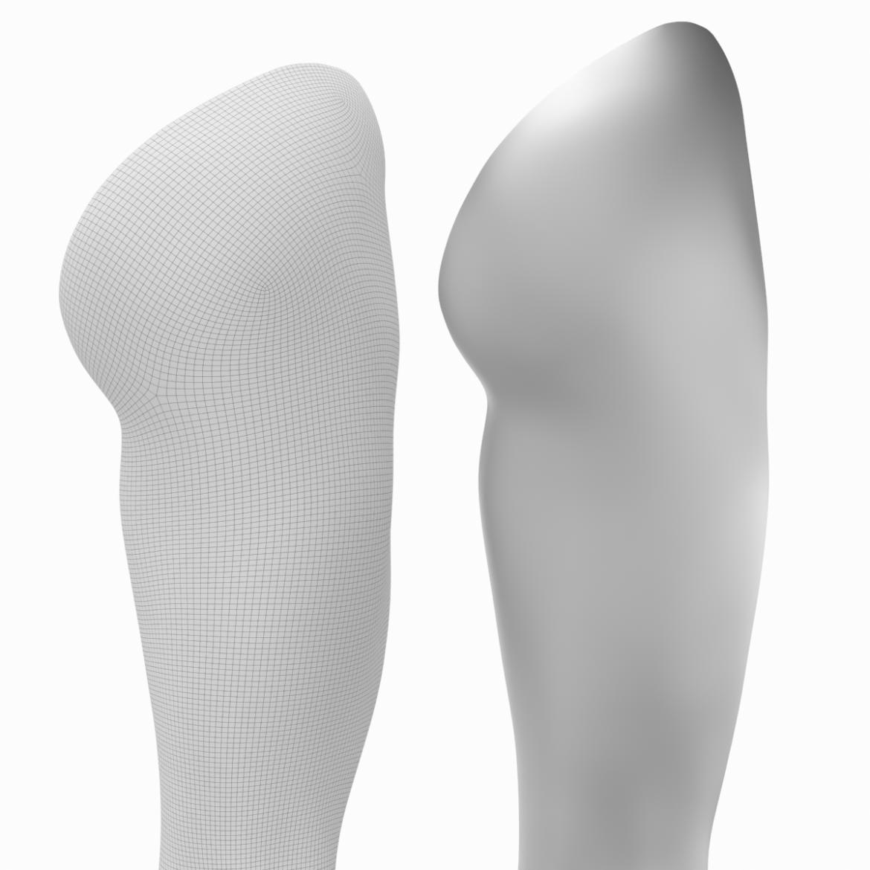 realistic female legs natural proportions 3d model 3ds max fbx blend c4d dae ma mb  obj 320980