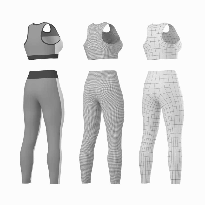 woman sportswear 6 base mesh design kit 3d model 3ds max fbx blend c4d dae ma mb  obj ztl 321048