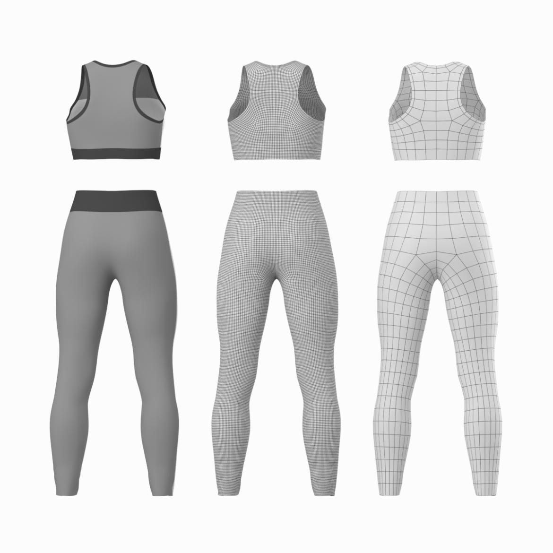 woman sportswear 6 base mesh design kit 3d model 3ds max fbx blend c4d dae ma mb  obj ztl 321049