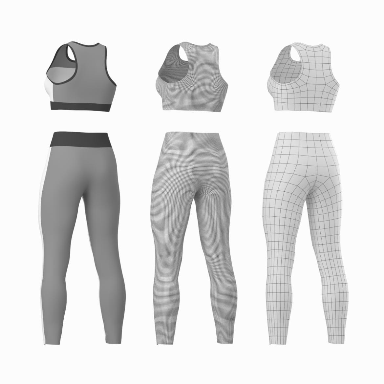 woman sportswear 6 base mesh design kit 3d model 3ds max fbx blend c4d dae ma mb  obj ztl 321050