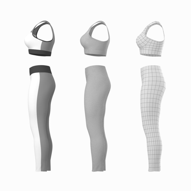 woman sportswear 6 base mesh design kit 3d model 3ds max fbx blend c4d dae ma mb  obj ztl 321052