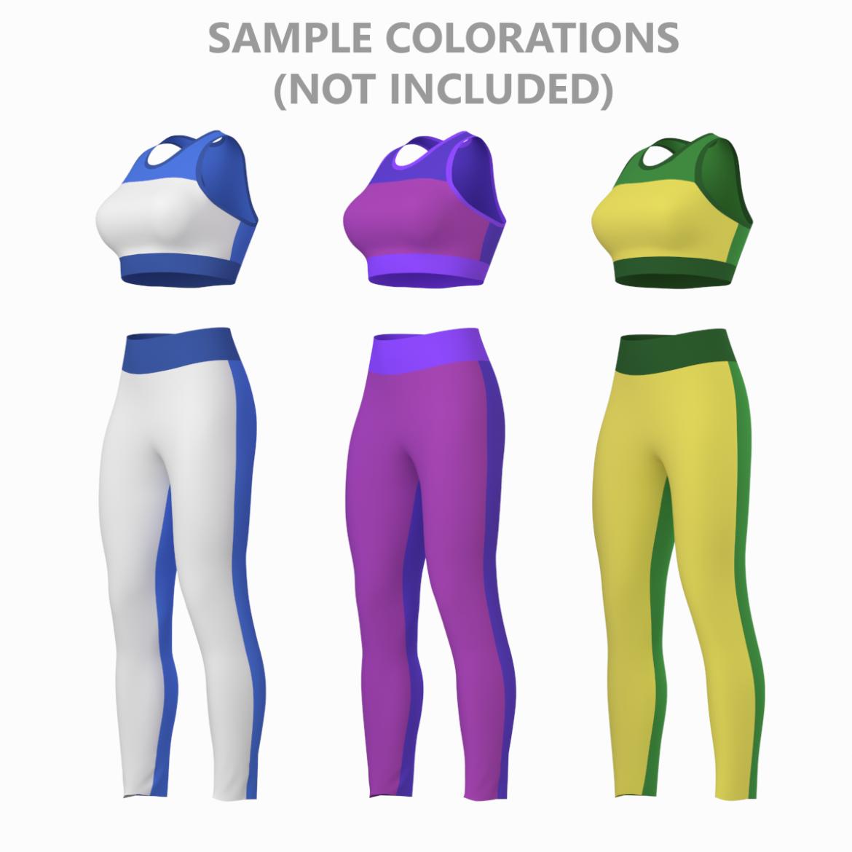 woman sportswear 6 base mesh design kit 3d model 3ds max fbx blend c4d dae ma mb  obj ztl 321053