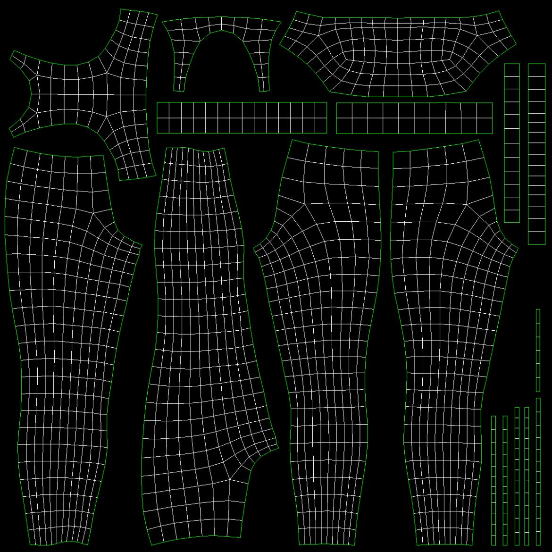 woman sportswear 6 base mesh design kit 3d model 3ds max fbx blend c4d dae ma mb  obj ztl 321058