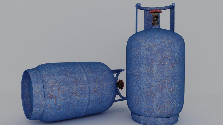 газова бутилка 3d модел 3ds max fbx obj 321132