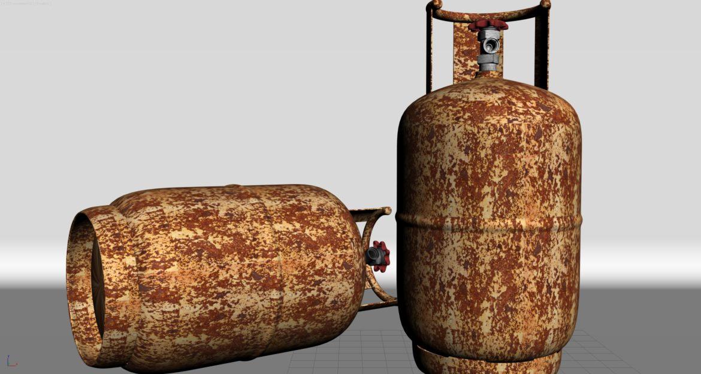 gas cylinder 3d model 3ds max fbx obj 321141