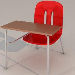 mokyklos kėdės 3D modelis 3ds max fbx obj 321150