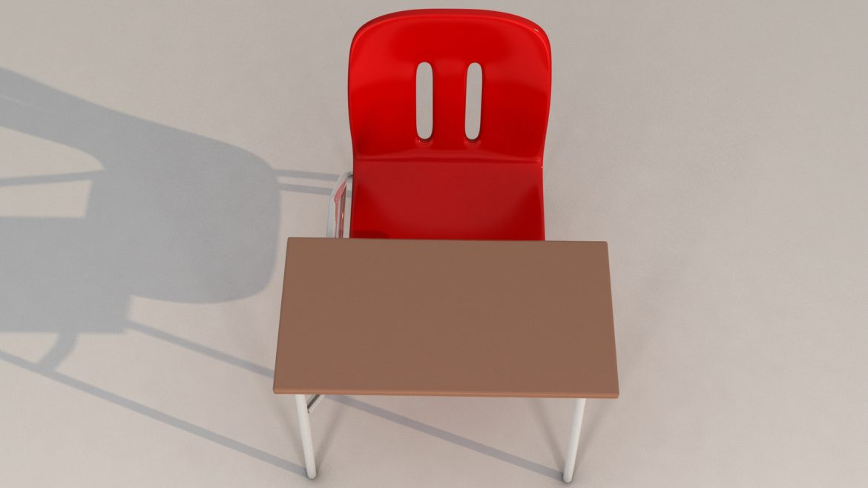 school chair 3d model 3ds max fbx obj 321152