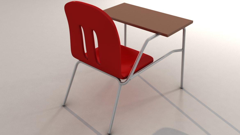 school chair 3d model 3ds max fbx obj 321155