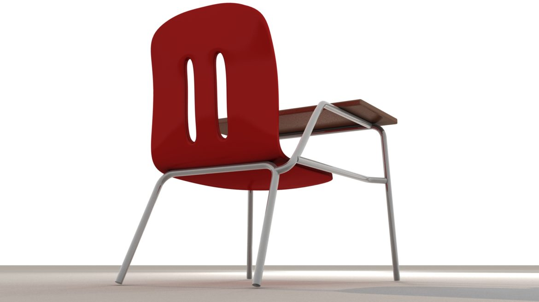 school chair 3d model 3ds max fbx obj 321156