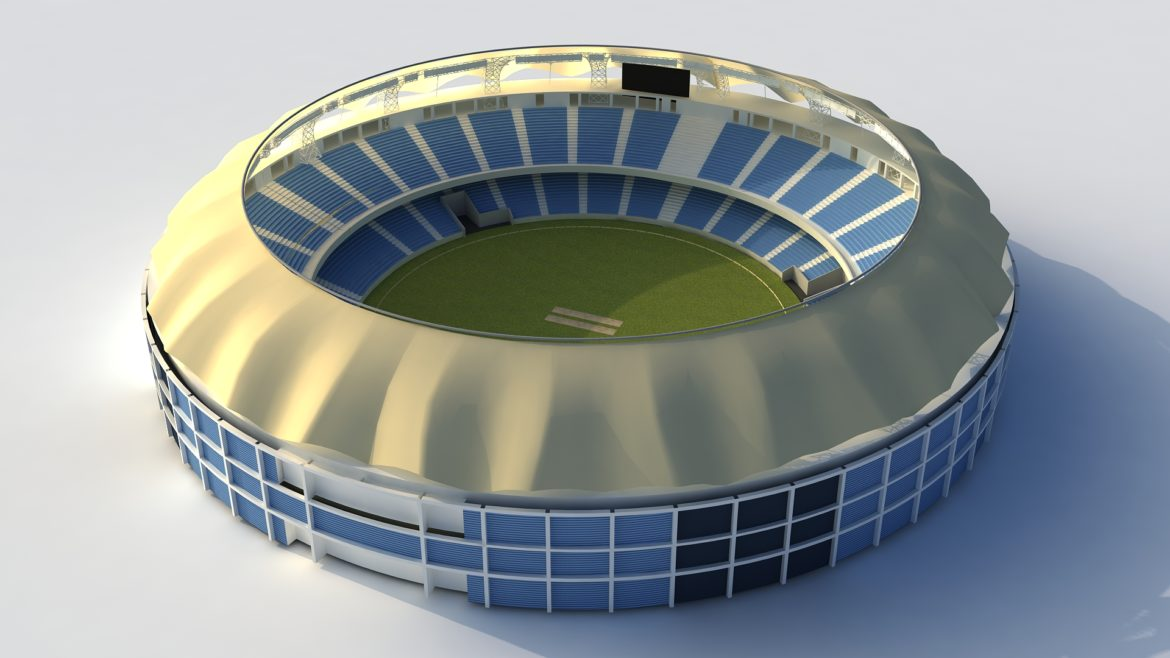dubai cricket stadium 3d model 3ds max fbx obj 321211