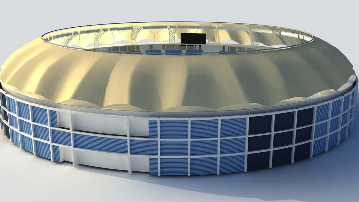 dubai cricket stadium 3d model 3ds max fbx obj 321212