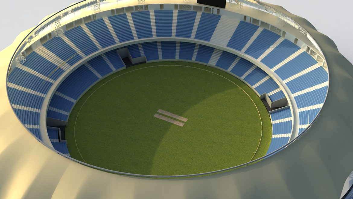 dubai cricket stadium 3d model 3ds max fbx obj 321213